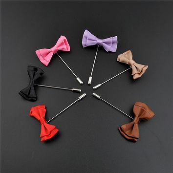 Jewelry Fashion Brooches In Bulk 5Pcs/Lot Corsage Flowers Handmade Fabric Brooches Women Men Brooch Flower Lapel Pin
