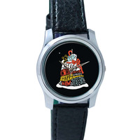 Merry Christmas & Happy New Year, Santa-Hat Wrist Watch