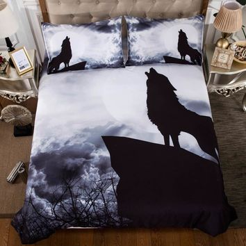 3d Wolf Print Comforter Bedding Sets King Queen Size 3pcs Bed Set Polyester Bedclothes Bed Linen Quilt Bed Sheet Duvet Cover Set