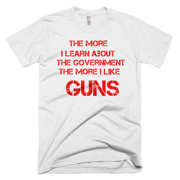The More I Learn men's t-shirt