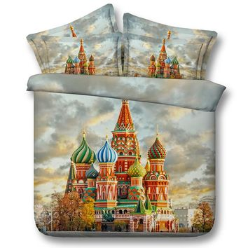 Castle fireworks sugar light world cup girl 4pcs bedding set without filler twin/full/queen/king/super king size free shipping