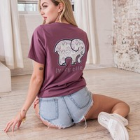 Ella Fit Dusty Lavender Tribal Tee