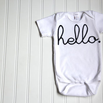 Hello Onesuit, Baby Geekery Onesuit, Ready to Ship, 3-6 Month Onesuit