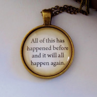 Peter Pan Quote Necklace. Book Jewelry. 18 Inch Chain.