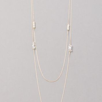 Iced Pearl Necklace