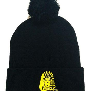 LMFON Last Kings Women Men Embroidery Warm Winter Knit Hat Cap