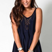 Memories dress in navy  | Show Pony Fashion online shopping