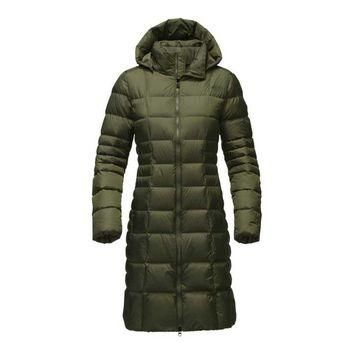 The North Face Metropolis Parka II for Women in Rosin Green NF0A2TAN-HAD