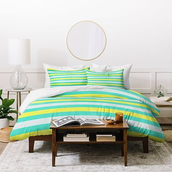 Allyson Johnson Bright Stripes Duvet Cover