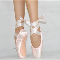 Girls Ladies Women Professional Satin Ballet Pointe Dance Toe Shoes Pink 9 Sizes
