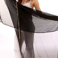 BellyLady Stunning Handmade Chiffon Belly Dance Veil, For Practice