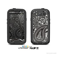 The Black & White Pasiley Pattern Skin For The Samsung Galaxy S3 LifeProof Case
