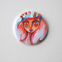 red Pocket mirror indian girl