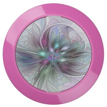 Colorful Fantasy, abstract and modern Fractal Art USB Charging Station