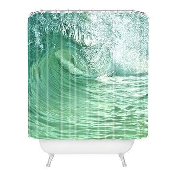 Tropical Waves Shower Curtain