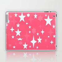 Pink & White Retro Atomic Stars Laptop & iPad Skin by 2sweet4words Designs | Society6