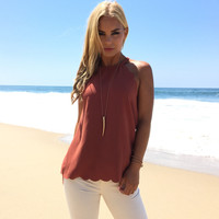 Rustic Scallop Blouse