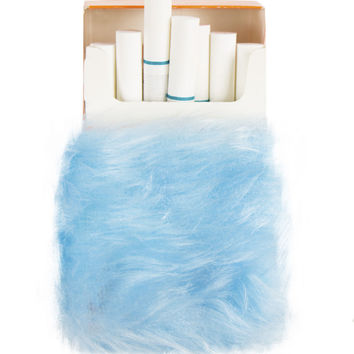 FURRY BABY BLUE CIGARETTE CASE