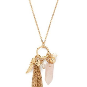 Longline Tassel Pendant Necklace