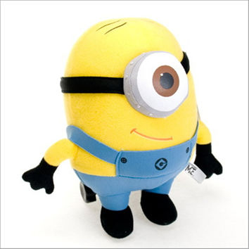 J119 Kawaii New Arrival 18cm Yellow Despicable Me Stuffed Doll Minion 3D Eye Plush Toys Gifts For Kids