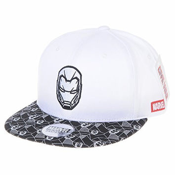 WITHMOONS Marvel Snapback Cap Civil War Iron Man Embroidery CR2330 (White)
