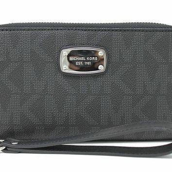 7be35220519514 PEAP Michael Kors Jet Set Item Large Flat Multifunction Phone Wr. BAgs