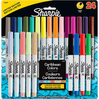 Walmart: Sharpie Permanent Markers Ultra Fine Point - Assorted Colors - 24 Count