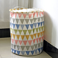 Triangle Laundry Basket Geometric Storage Basket European Newspaper Basket Handmade Basket  16x20