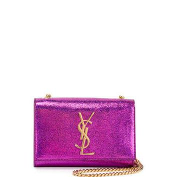 Saint Laurent Kate Monogram Small Shoulder Bag, Pink