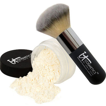 IT Cosmetics Bye Bye Pores HD Finishing Powder w/Hydro Collagen& Brush — QVC.com