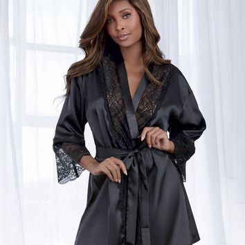 Lace Satin Robe