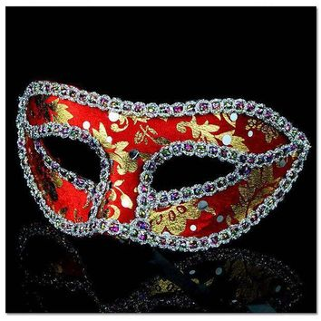 10pcs/lot Unisex Halloween Party Mask With Eyeline Fox Half Face Masquerade Girls Masks For Female Dancing Wear Cosplay