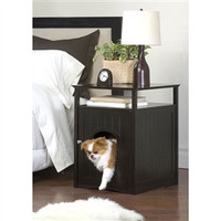 Washroom Pet House Cat Dog Bed in Espresso