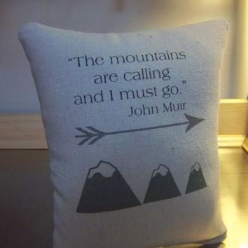 John Muir pillows best mountain gift throw pillow home decor