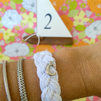 Sailor Bracelet with Monogram Charm