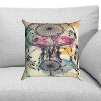Dream Catcher Watercolor Dripping Custom Pillow Case for One Side and Two Side