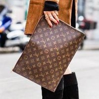 LV Louis Vuitton Couple Makeup Bags Business Bag Briefcase Bag Classic Leisure Clutch Bag Handbag