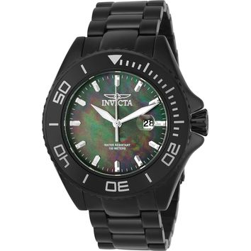 Invicta Men's 23070 Pro Diver Quartz 3 Hand Black Dial Watch