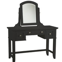 Home Styles 5531-70 Bedford Vanity Table, Black Finish