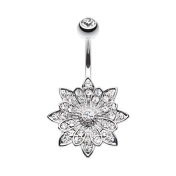 Flower Enchant Belly Button Ring Navel Ring Body Jewelry