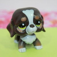 Littlest Pet Shop LPS #2121 Chocolate Walkable Dog St Bernard Works!