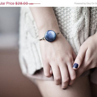 Navy blue Bracelet - Pluto - Space Jewelry - Solar System (BT022)