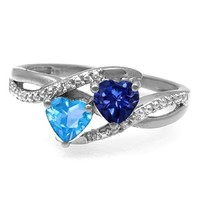 Kay - Color Stone Couple's Heart Ring