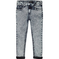 River Island Boys blue acid wash Sid skinny jeans