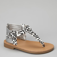 White & Black Leopard Sahara Sandal | something special every day