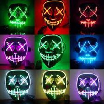 Mosoon Dreamer Halloween LED Light Up Party Purge Election