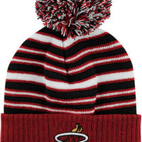 Miami Heat Kids 4-7 Cuffed Knit Hat with Pom