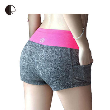 woman fitness sports training shorts dry female stretch  running shorts women sexy mini slim gym sweatpants workout clothes