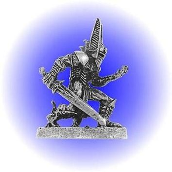 Dark Fantasy Warrior Pewter Figurine  Lead Free