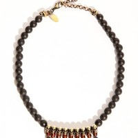 Black agate beaded skull necklace [Ios6012] - $336.00 : Pixie Market, Fashion-Super-Market